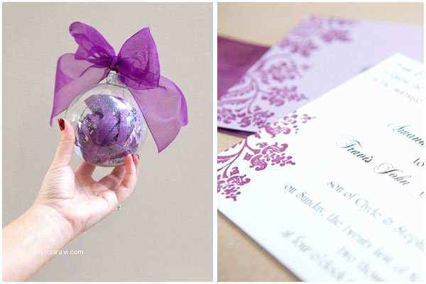 How to Make Your Wedding Invitations at Home Diy We Love Wedding Invitation ornament