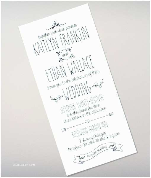 How to Make Your Wedding Invitations at Home Doodle Love Tall Wedding Invitation – Download & Print