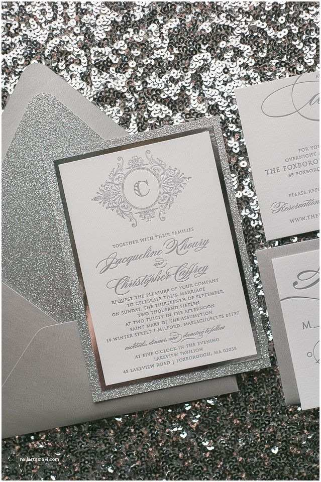 How to Package Wedding Invitations Abigail Suite Styled Fancy Glitter Package