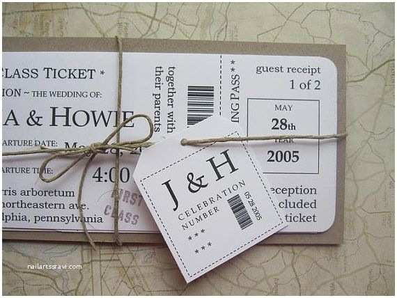 How to Package Wedding Invitations Boarding Pass Wedding Invitation Package Vintage by