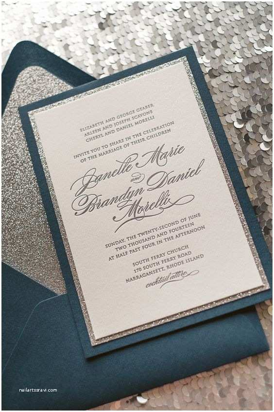 How to Package Wedding Invitations Diane Suite Fancy Glitter Package