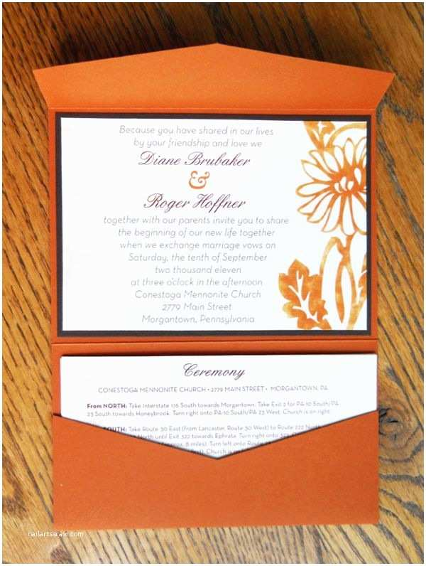 How to Package Wedding Invitations Fall Wedding Invitation Package by Alison Schoenberger