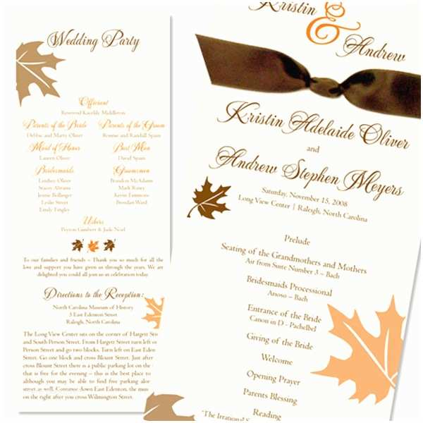 How to Package Wedding Invitations Fall Wedding Invitations Packages