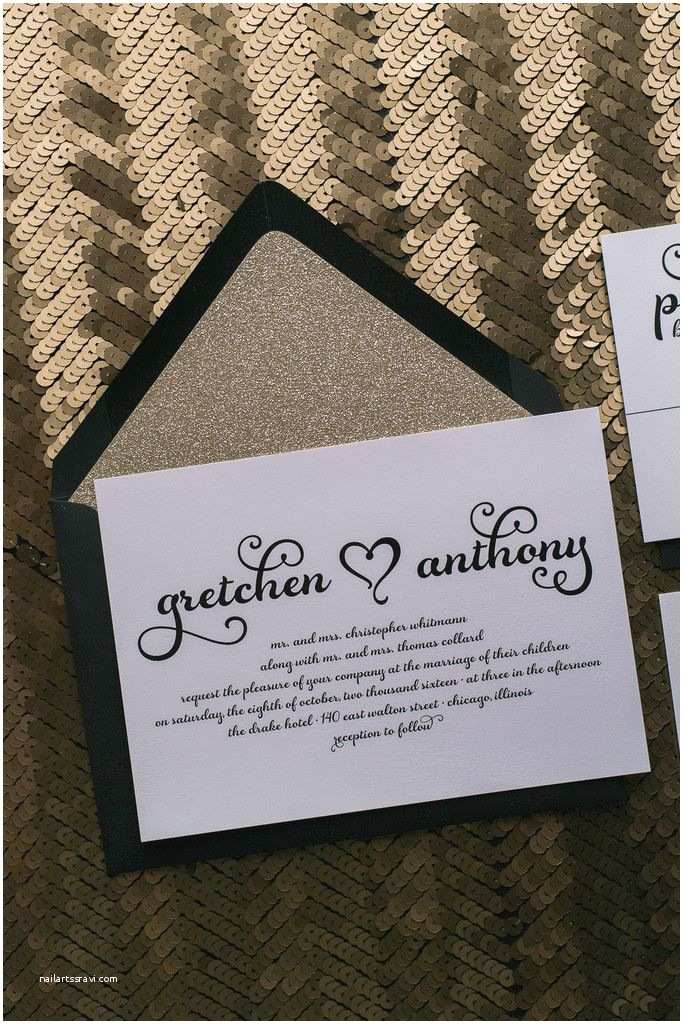 How to Package Wedding Invitations Gretchen Suite Glitter Package