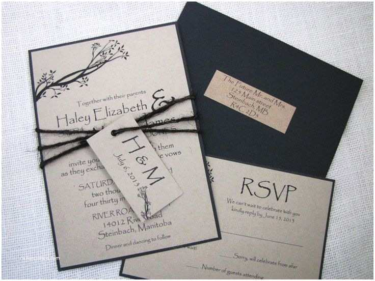 How to Package Wedding Invitations Ideas for Rustic Nature Bird Tree theme Wedding Invites