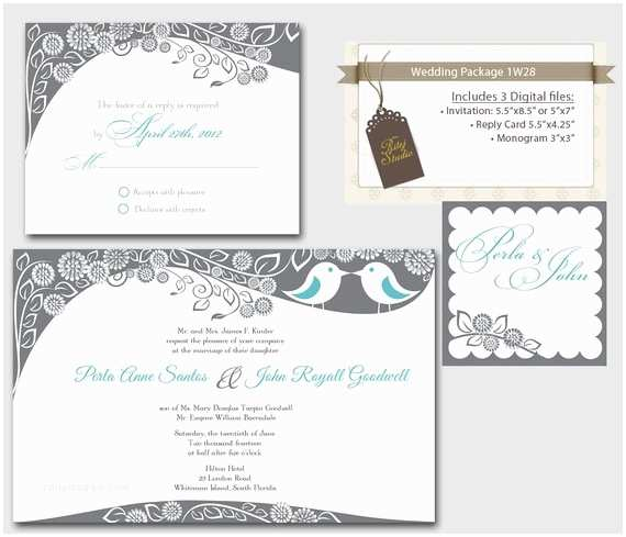 How to Package Wedding Invitations Items Similar to Digital Wedding Invitation Package Love