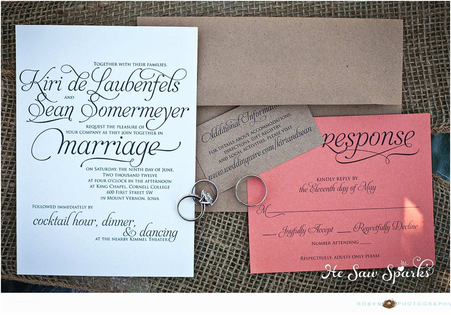 How to Package Wedding Invitations Lovely Script Wedding Invitation Package Printable Diy