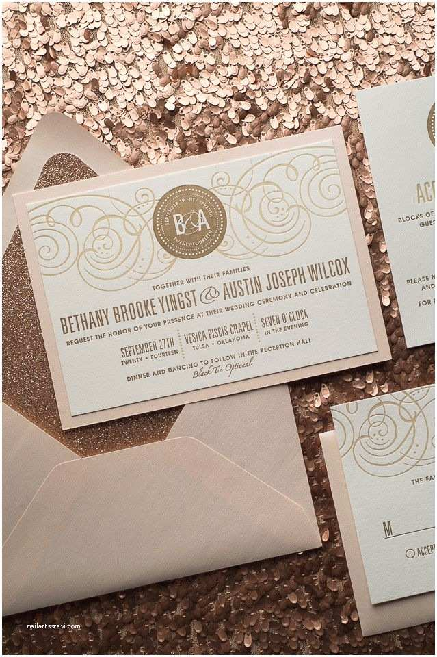 How to Package Wedding Invitations Nancy Suite Fancy Glitter Package