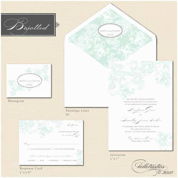How to Package Wedding Invitations Printable Wedding Invitation Package Besotted