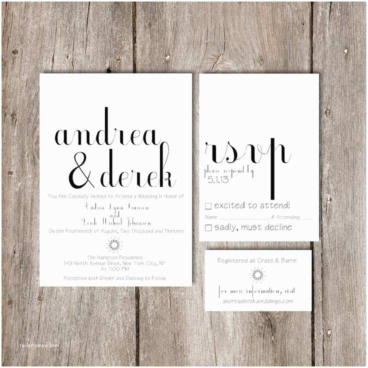 How to Package Wedding Invitations Simple Chic Script Wedding Invitation Package Diy Do It
