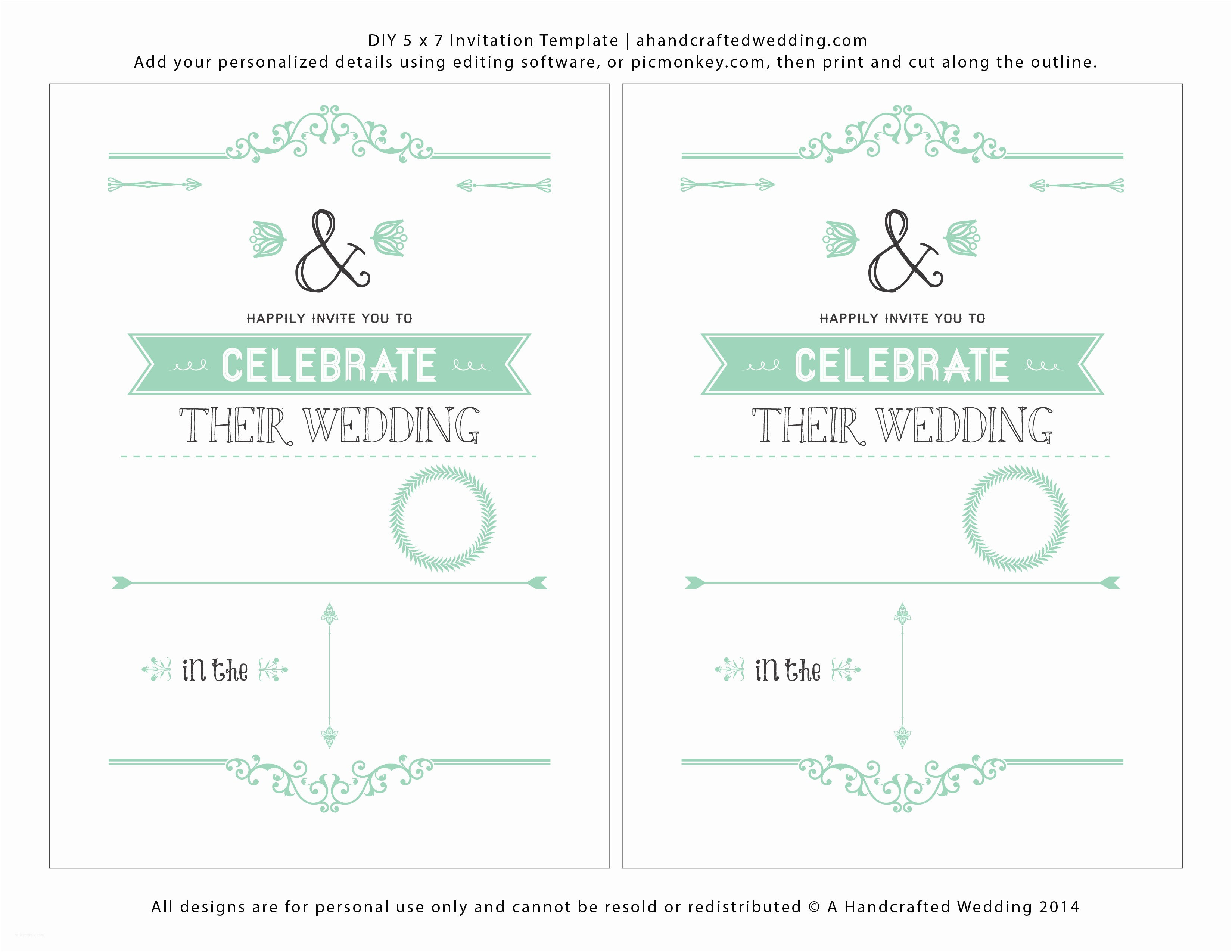 How To Print Out Wedding Invitations Free Wedding Invitations
