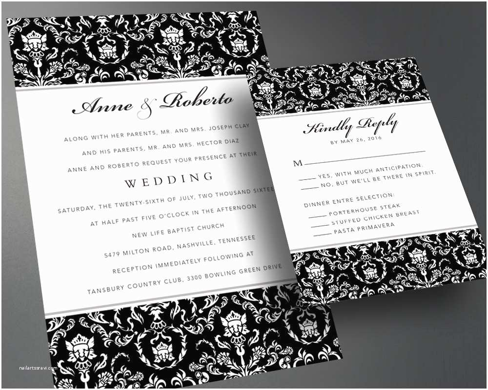 How To Print Out Wedding Invitations Wedding Invitation Pdf Printable Wedding Invitation