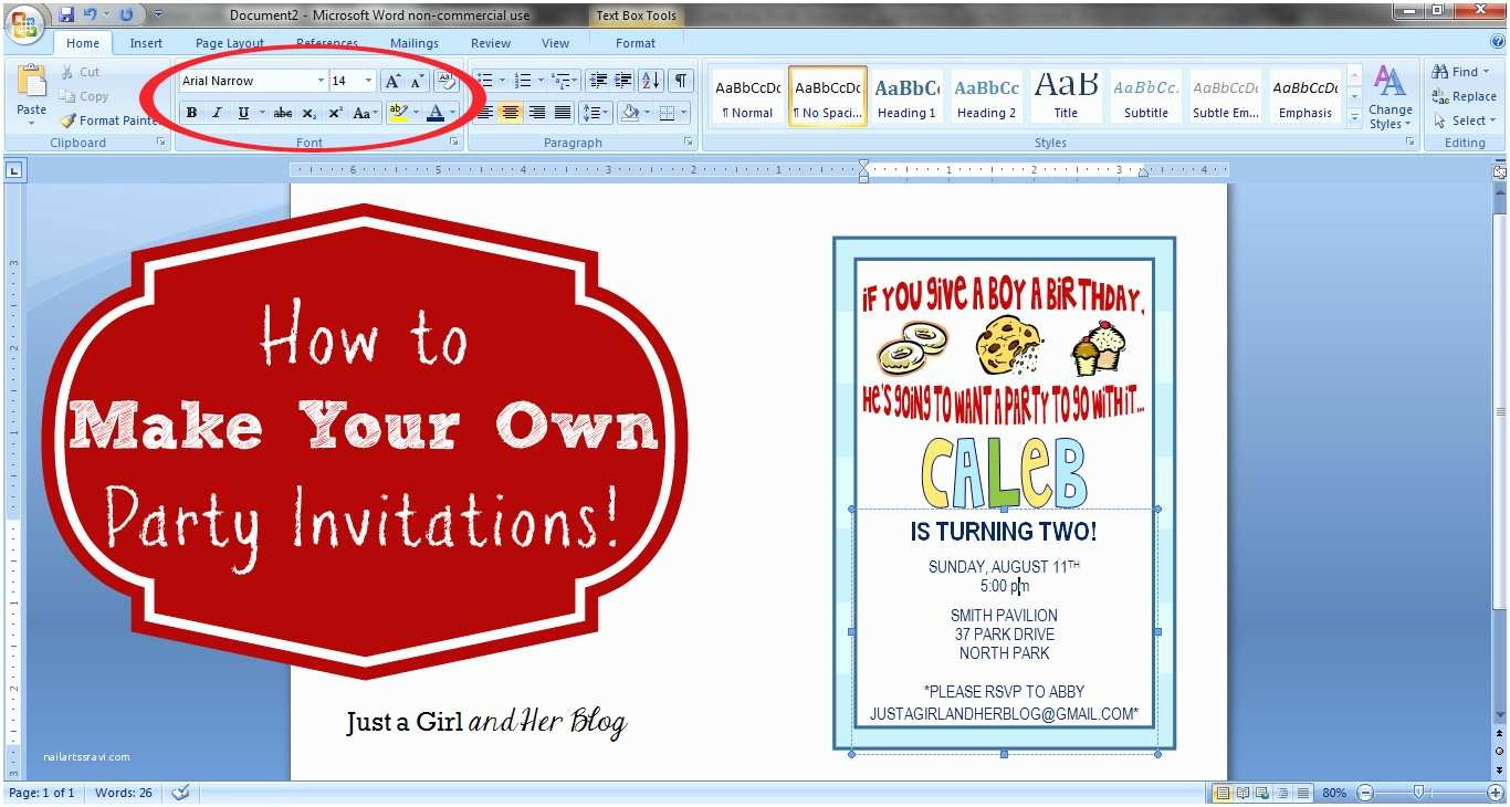 How to Print Wedding Invitations How to Make Your Own Party Invitations Just A Girl and