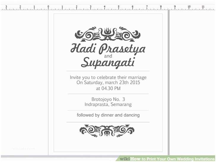 How to Print Your Own Wedding Invitations Jaw Dropping Print Your Own Wedding Invitations