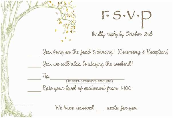 How to Rsvp for Wedding Invitation 9 Hilarious Wedding Invitations that Simply Can't Be