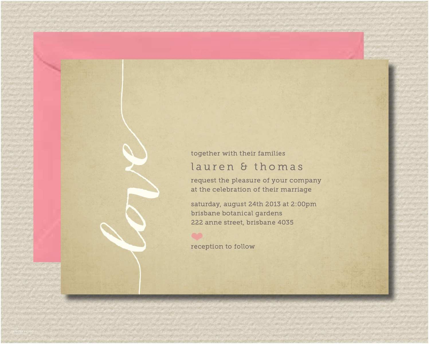 How to Rsvp for Wedding Invitation Printable Wedding Invitation & Rsvp Love by Rosiedaydesign