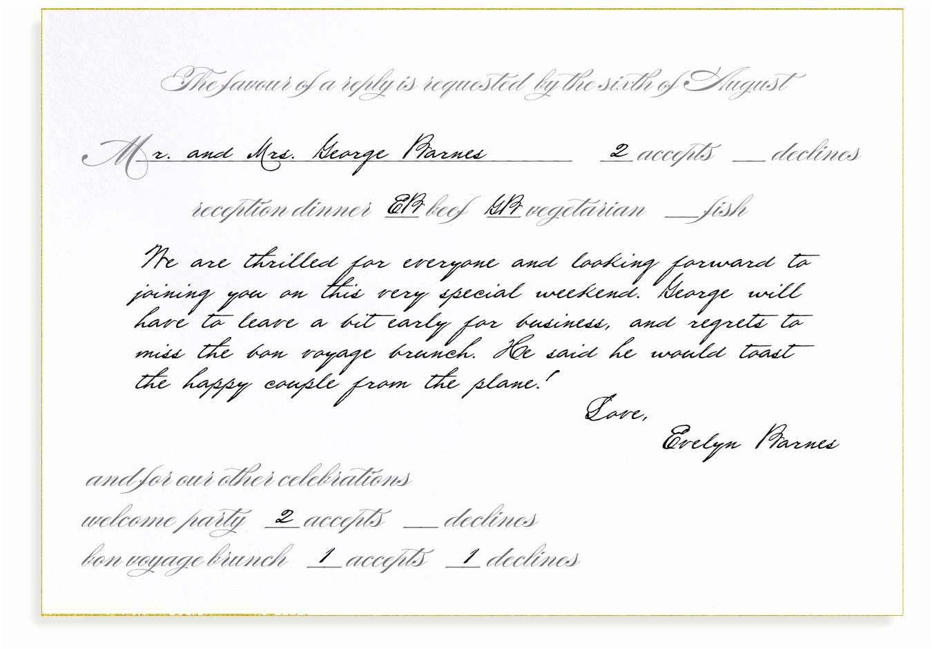 How to Rsvp for Wedding Invitation Rsvp Etiquette Traditional Favor Dinner Options with