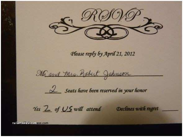 How to Rsvp for Wedding Invitation Wedding Invitation Lovely How to Fill Out A Wedding