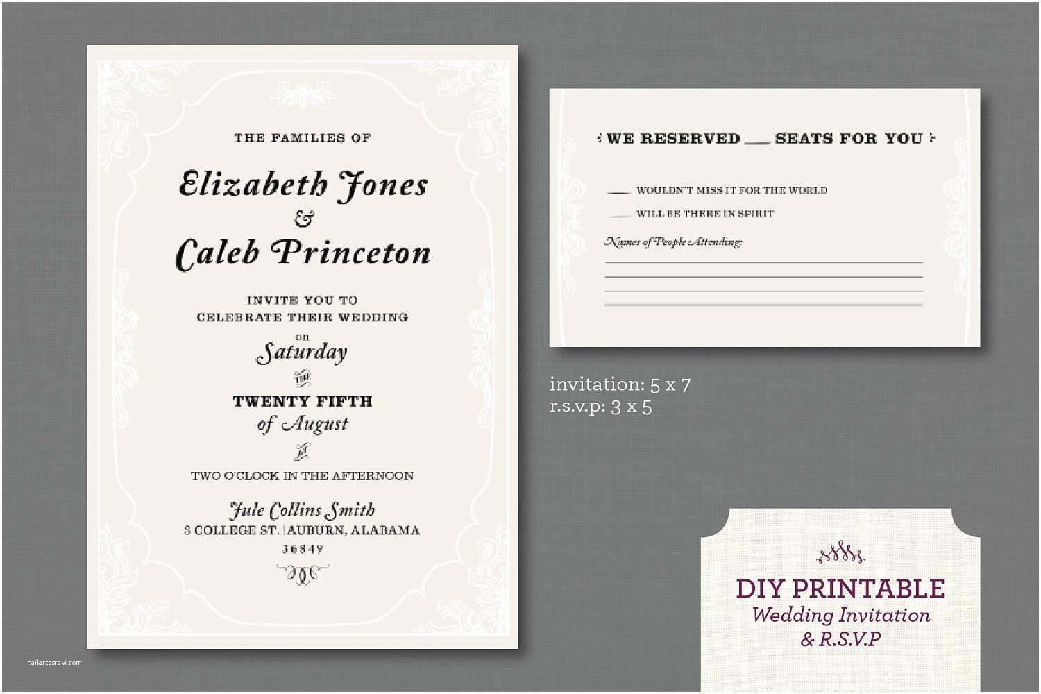 How to Rsvp for Wedding Invitation Wedding Invitations Rsvp Line Printable Wedding