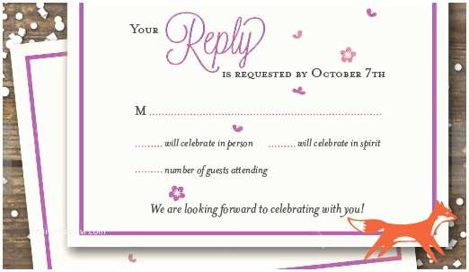 How to Rsvp for Wedding Invitation Wedding Rsvp Wording Ideas and format 2017 Edition Rsvpify
