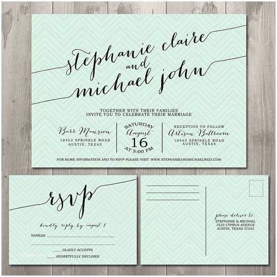 How to Rsvp to A Wedding Invitation Zig Zag Handwriting Wedding Invitation Suite Diy