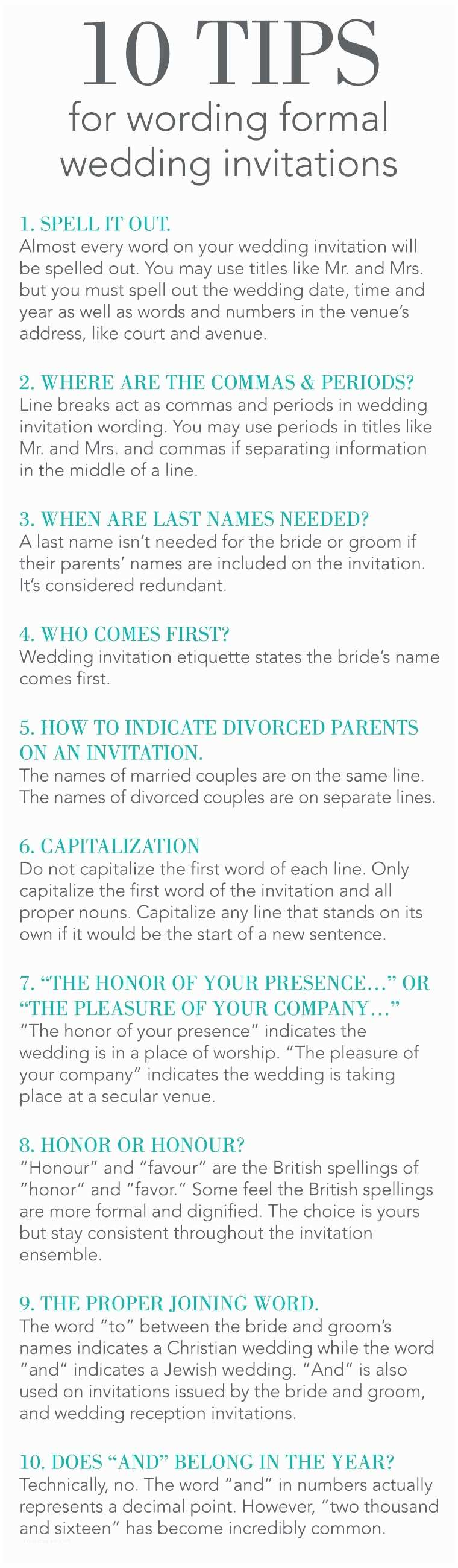 How to Word formal Wedding Invitations Hosting A formal Wedding but are Uncertain How to Word