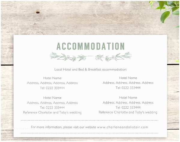 How to Word Hotel Accommodations for Wedding Invitations Wedding Ac Modation Card Zoom Wedding Invitation
