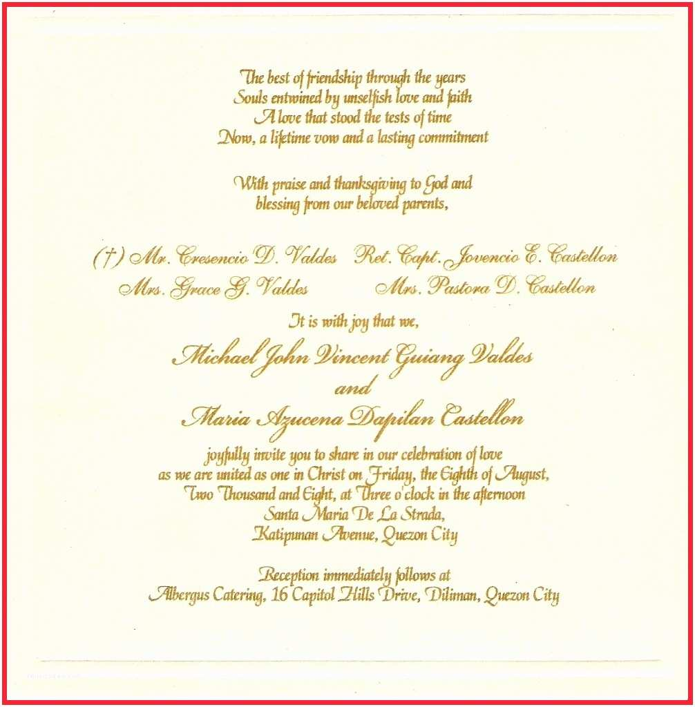 How to Write A Wedding Invitation Amazing Samples Wedding Invitations Wording with