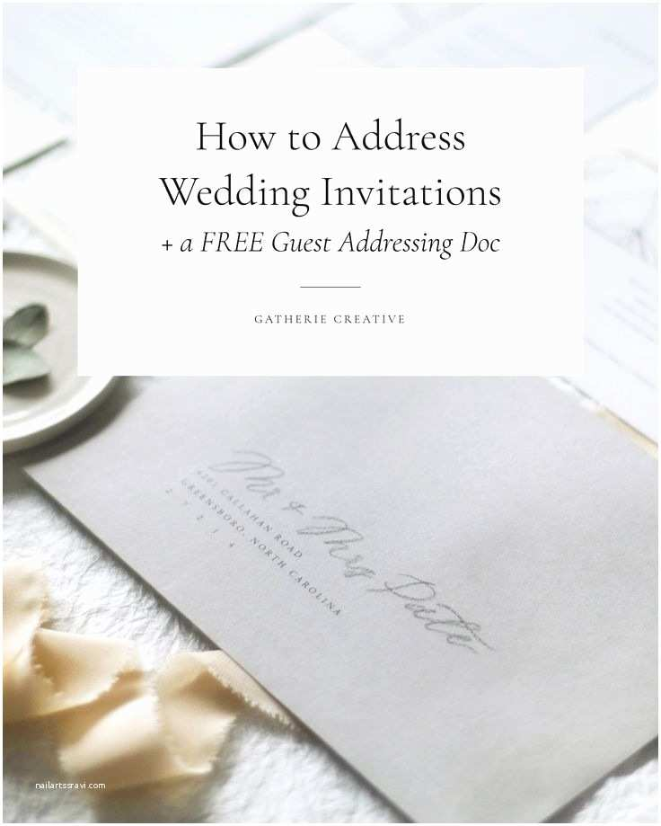 How to Write A Wedding Invitation Best 25 Envelope Addressing Etiquette Ideas On Pinterest