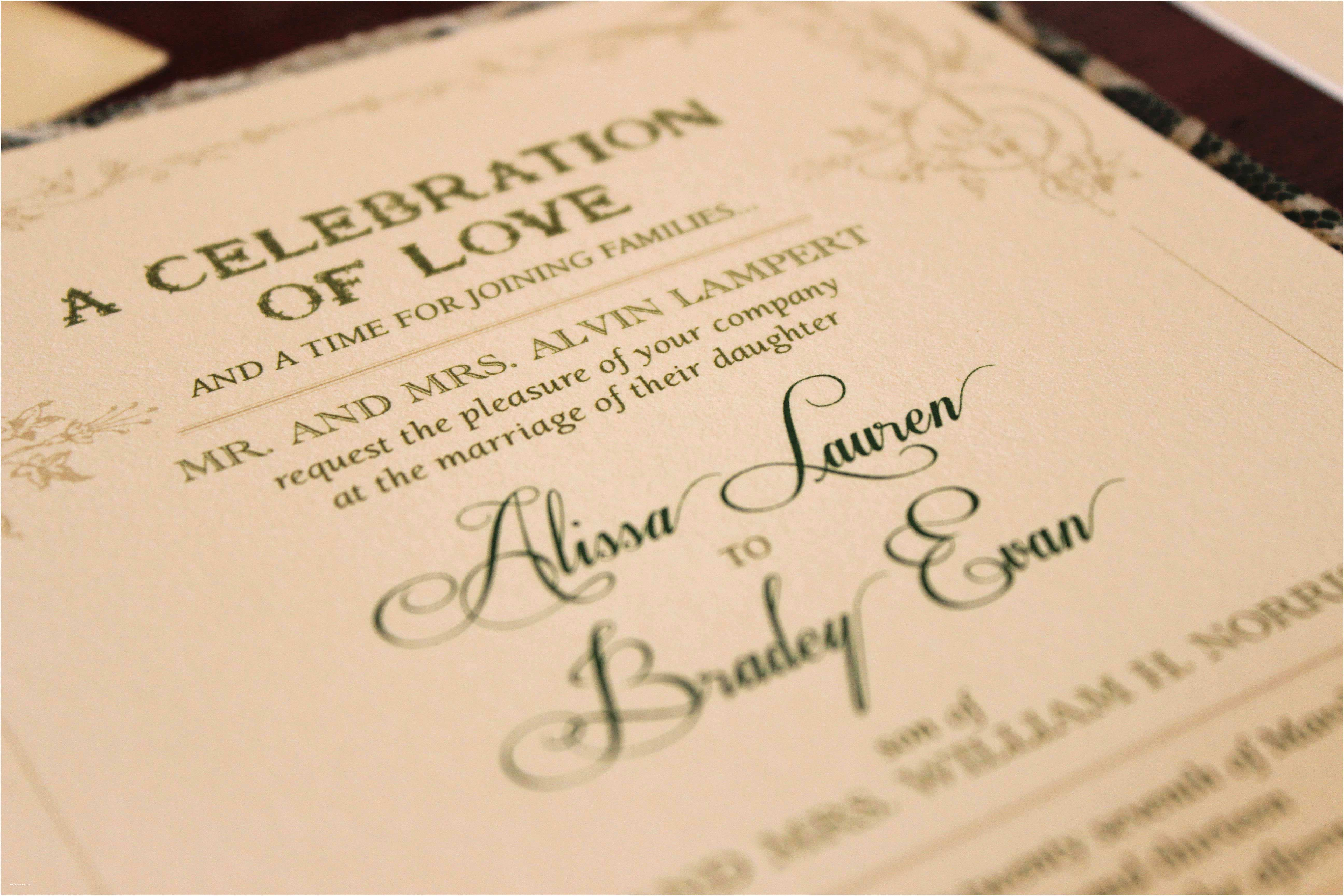 How to Write Time On Wedding Invitation Wedding Invitation Etiquette Special Wording