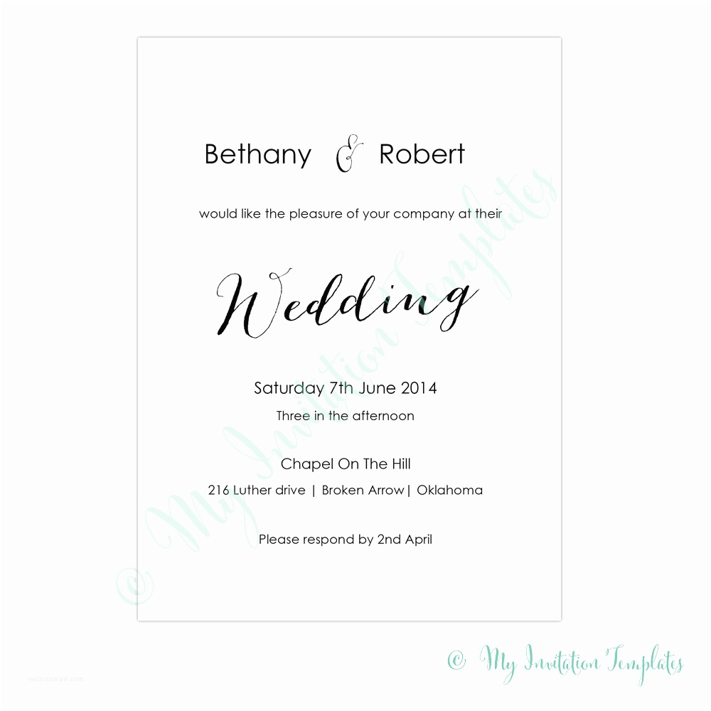 How to Write Time On Wedding Invitation Wedding Invitation Template with Wedding Invitation