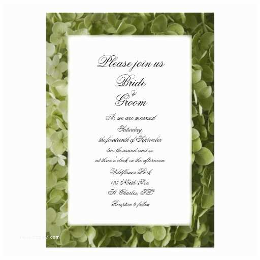 "Hydrangea Wedding Invitations Annabelle Hydrangea Wedding Invitation 5"" X 7"" Invitation"