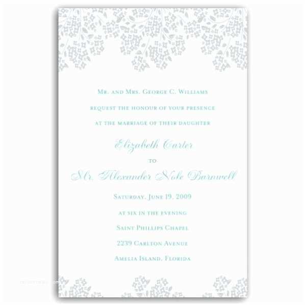 Hydrangea Wedding Invitations Hydrangea Border Gray Wedding Invitations