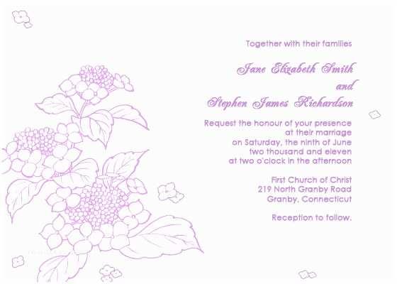 Hydrangea Wedding Invitations Hydrangea Wedding Invitation ← Wedding Invitation