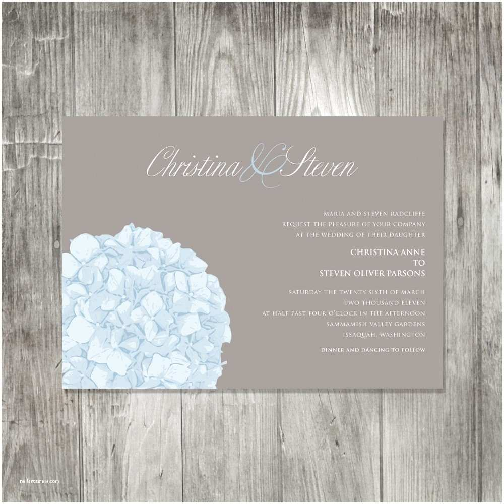 Hydrangea Wedding Invitations Hydrangea Wedding Invitation – Epaperheart – Stationary