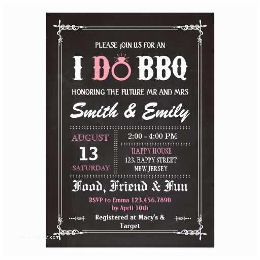 I Do Bbq Wedding Invitations I Do Bbq Invitation Wedding Party Invitation