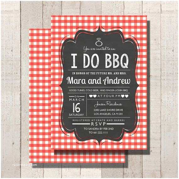 I Do Bbq Wedding Reception Invitations Bbq Barbecue Wedding Rehearsal Dinner I Do Bbq Invitation