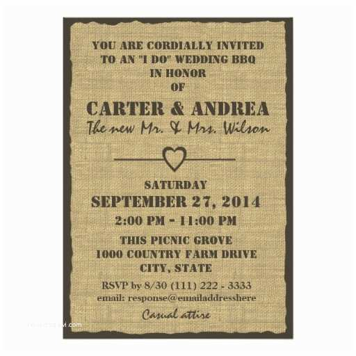 I Do Bbq Wedding Reception Invitations Bbq Wedding Reception Custom Invitations