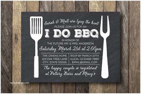 I Do Bbq Wedding Reception Invitations I Do Barbecue Invitation Engagement Party by thelionandthelark
