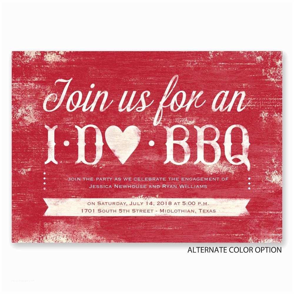 I Do Bbq Wedding Reception Invitations I Do Bbq Engagement Party Invitation