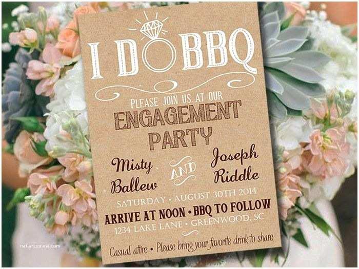 I Do Bbq Wedding Reception Invitations I Do Bbq Engagement Party Invitation Template Kraft