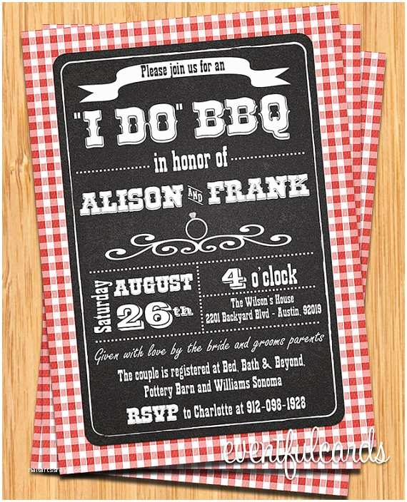 I Do Bbq Wedding Reception Invitations I Do Bbq Invitations for Weddings Engagement Parties
