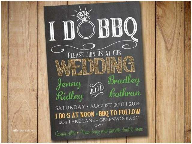 I Do Bbq Wedding Reception Invitations I Do Bbq Wedding Invitation Template Download Chalkboard