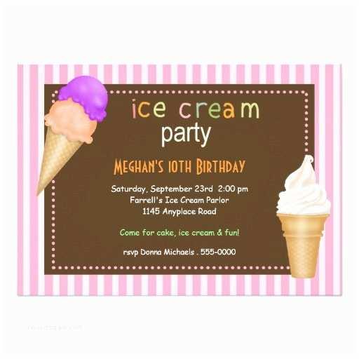 Ice Cream Birthday Party Invitations Ice Cream Party Birthday Invitation