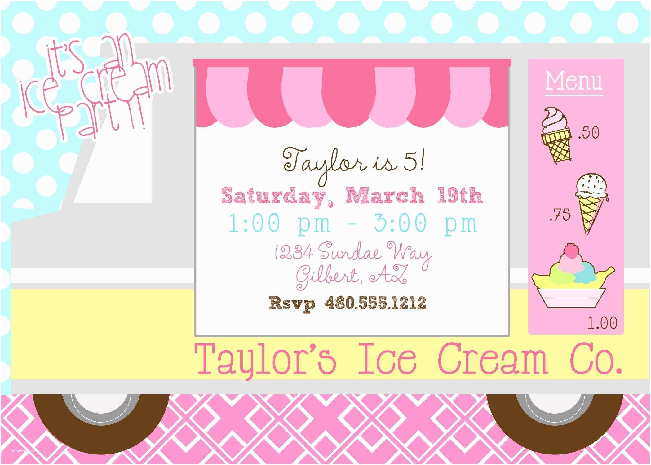 Ice Cream Birthday Party  Ice Cream Party