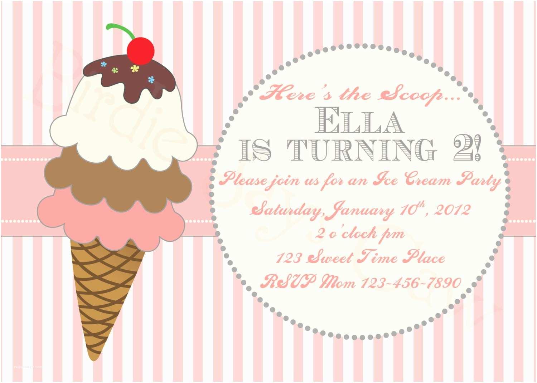 Ice Cream Birthday Party S Printable Custom Ice Cream Birthday Party