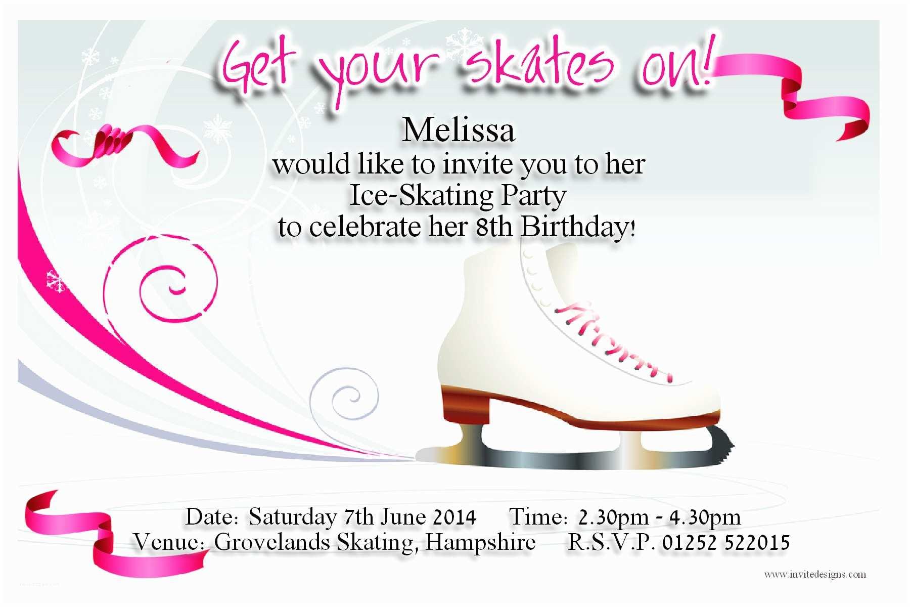 Ice Skating Party Invitations top 10 Ice Skating Birthday Party Invitations