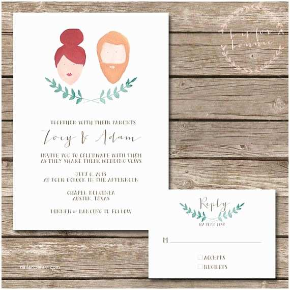 Illustrated Wedding Invitations 1000 Ideas About Illustrated Wedding Invitations On