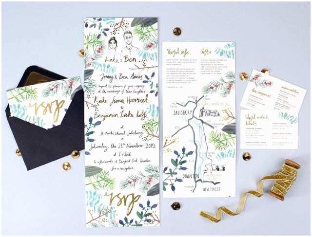 Illustrated Wedding Invitations 17 Best Ideas About Illustrated Wedding Invitations On