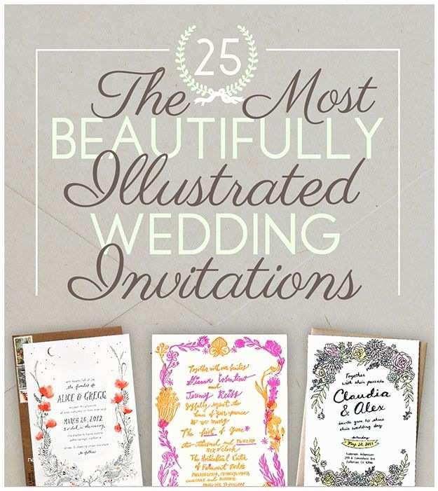 Illustrated Wedding Invitations 25 Illustrated Wedding Invites